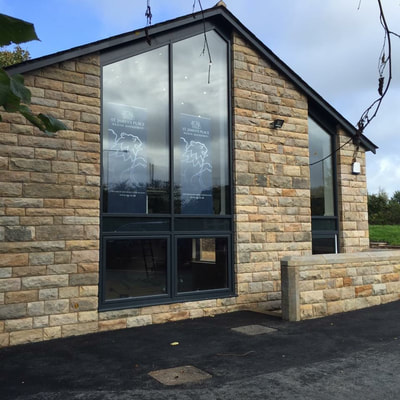 Curtain wall system for a home in Preston